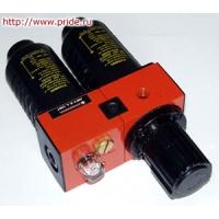 """Модульная группа для пневмолинии (фильтр, смаз., рег. дав.) 3/8"""", 5-50 микрон"""
